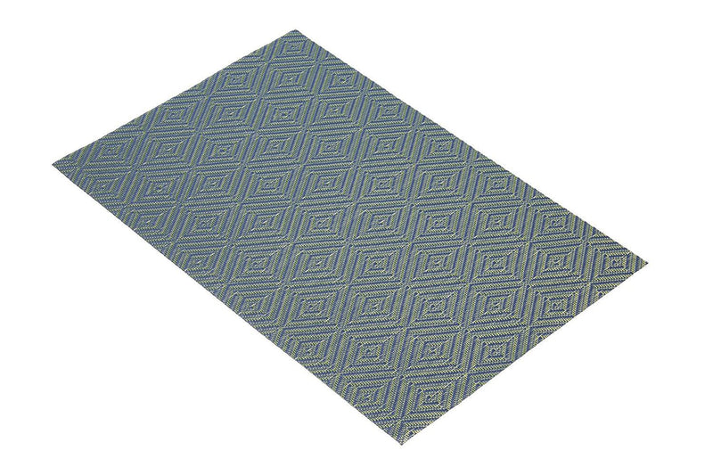 KitchenCraft Woven Vinyl Placemat, 45 x 30 cm (17.5' x 12') - Blue Diamonds