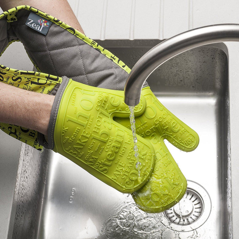 Zeal Silicone Double Oven Glove - Lime
