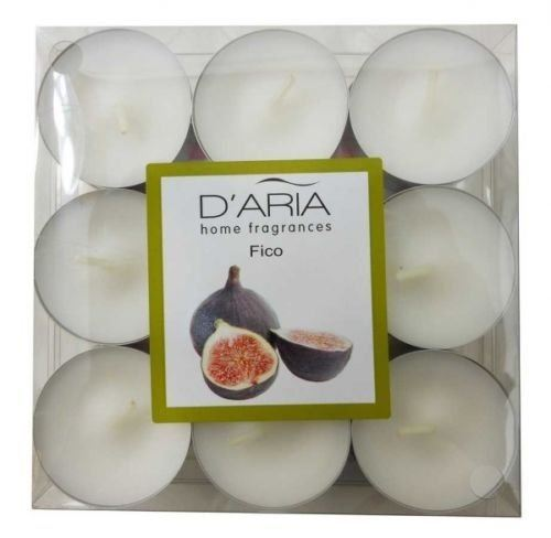 D'Aria Home Fig Scented 9 Tealights Pack of 2