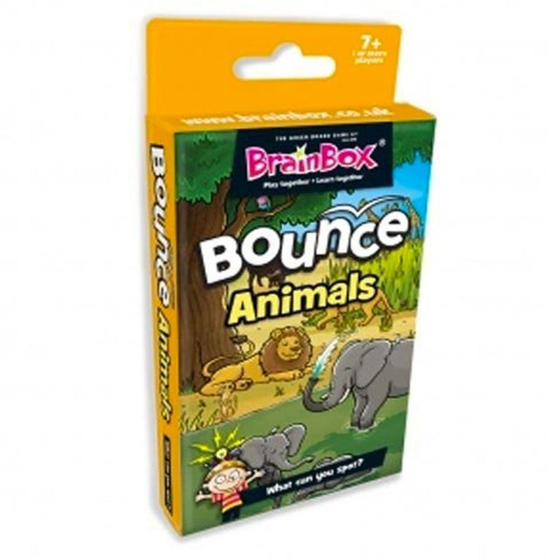 BrainBox Bounce Card Game Animals