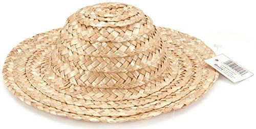 Darice Round Top Straw Hat 18-inchNatural,  Other,  Multicoloured