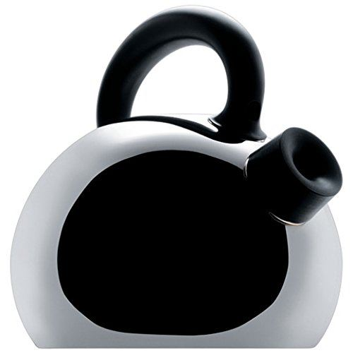 "Alessi SG65 ""Mami"" Stainless Steel Water Kettle, Black Handle"