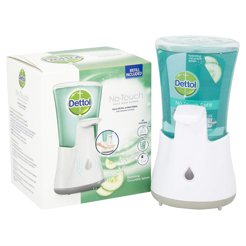 Dettol No Touch Hand Wash System, Hydrating Cucumber Splash 250 ml
