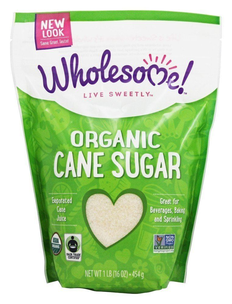 Wholesome Sweeteners Inc. Organic Sugar Evaporated Cane Juice  454 g