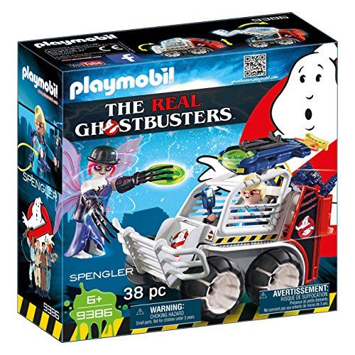 Playmobil Ghostbusters 9386 Spengler with Cage Car for Children Ages 6+