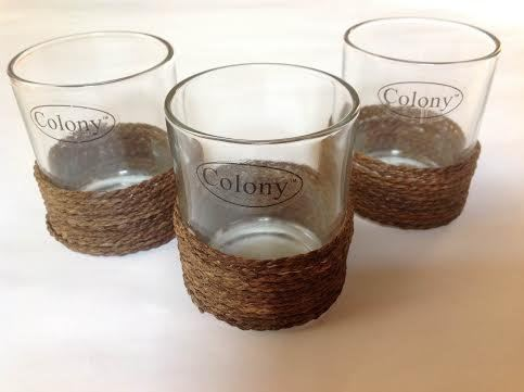 Colony Wicker Band Tealight Holders Pack of 3