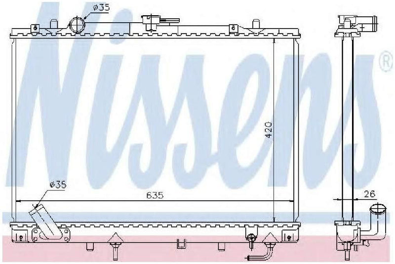 Nissens 68154 Radiator, engine cooling
