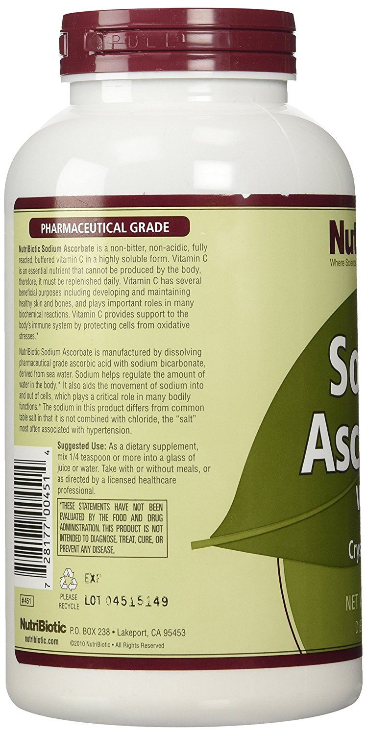 NutriBiotic Sodium Ascorbate Crystalline Powder 454 g