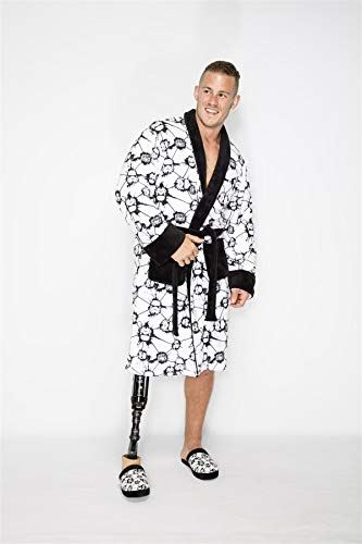 Groovy Official Stormtrooper Bathrobe Fleece House Coat Dressing Gown Star Wars, White/Black, One size fits all