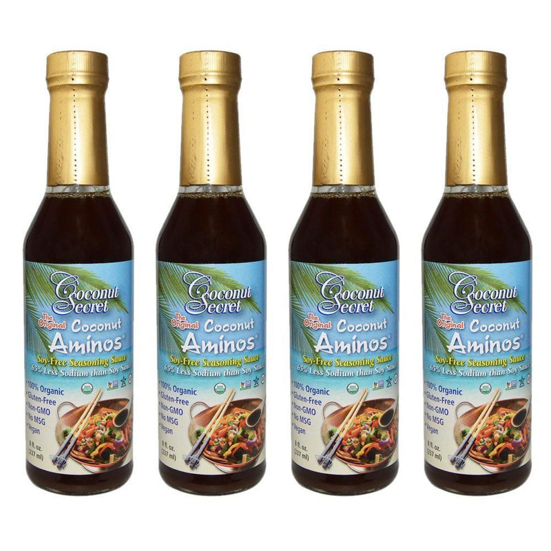 Coconut Secret Raw Coconut Aminos Soy-Free Seasoning Sauce 237 ml pack of 4