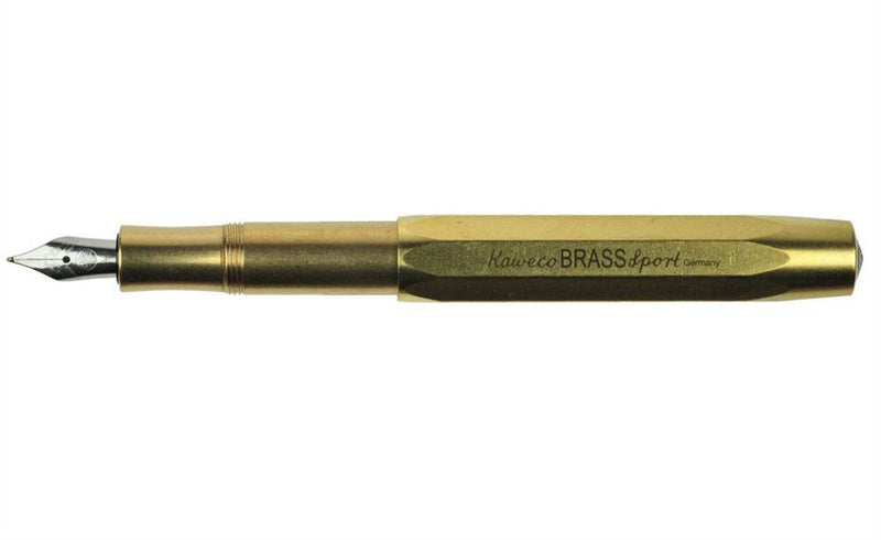 USED - Kaweco Sport Fountain Pen Brass Nib: M