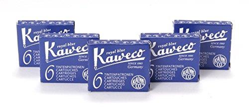 Kaweco Short Ink Cartridges Pack of 30 Royal Blue Erasable