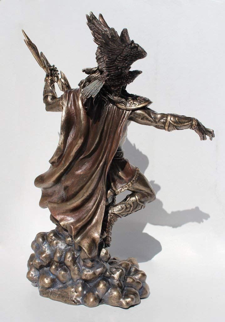Nemesis Now Zeus Greek God Holding Thunderbolt Statue with Eagle