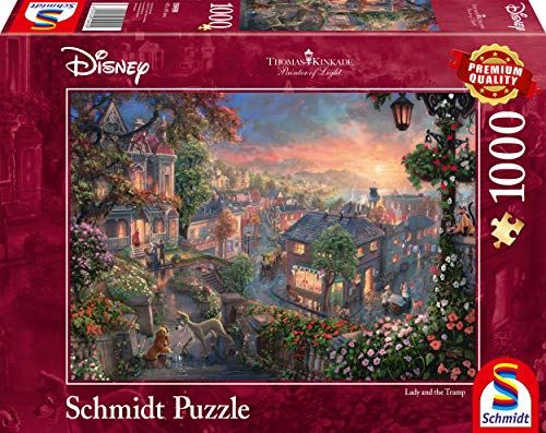 Schmidt Thomas Kinkade: Disney - Lady and The Tramp Jigsaw Puzzle (1000-Piece)