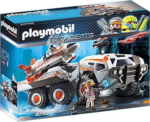 "PLAYMOBIL 9255"" Top Agents SpyTeam Battle Truck with Spy Jet Launch Pad Toy Set"