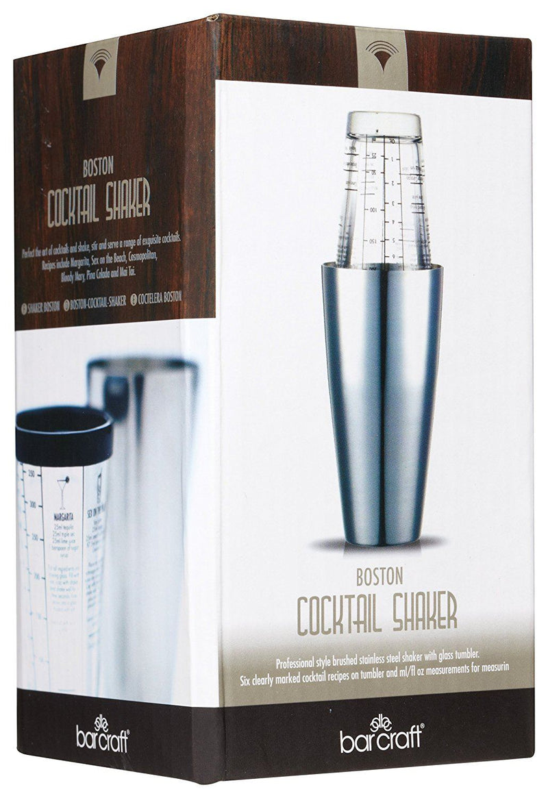 Bar Craft 400 ml Luxe Lounge Traditional Boston Cocktail Shaker