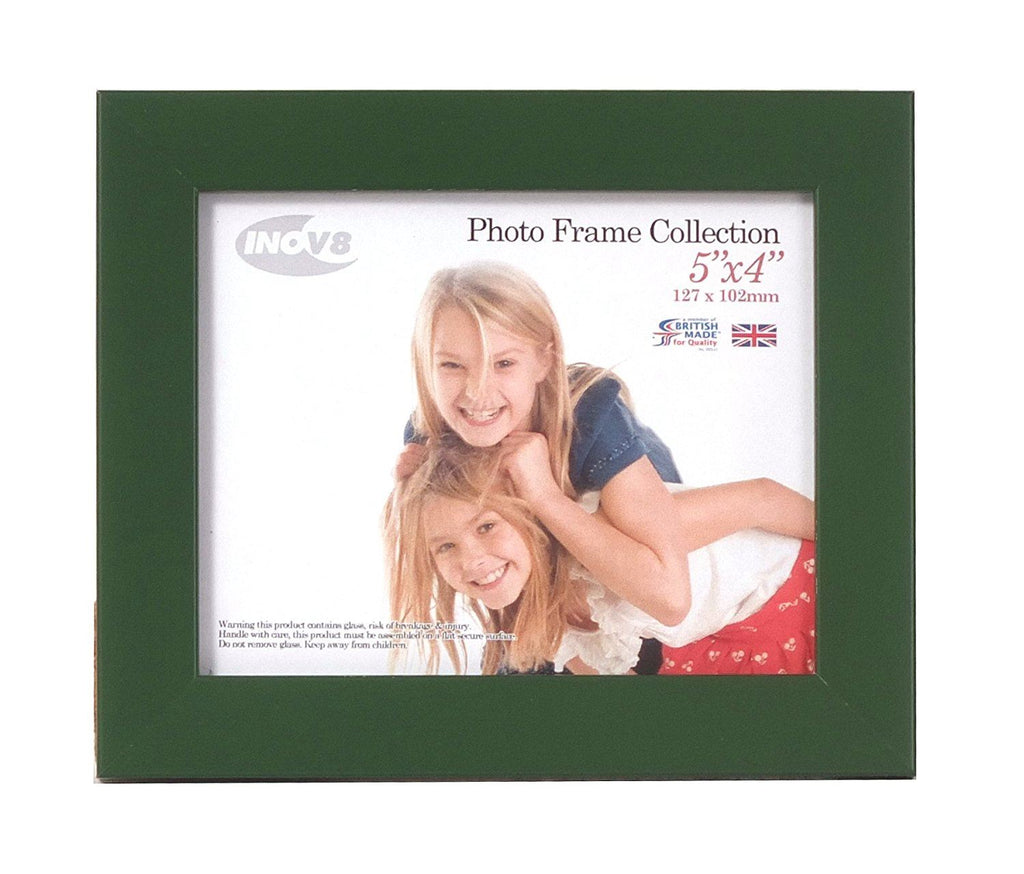 Inov8 British Made Traditional Picture/Photo Frame, Racing Green, 5x4 Inch