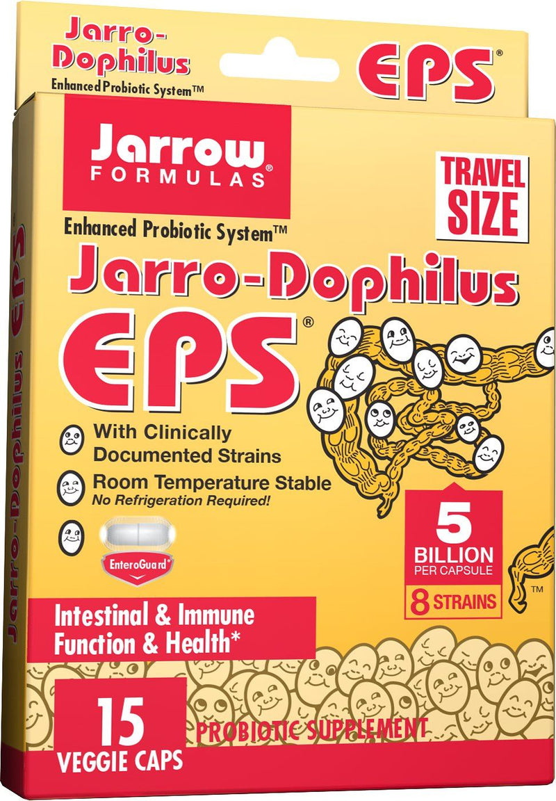 Jarrow Jarro-Dophilus EPS (Travel Size, 5 Billion Viable Cells, 15 Capsules)