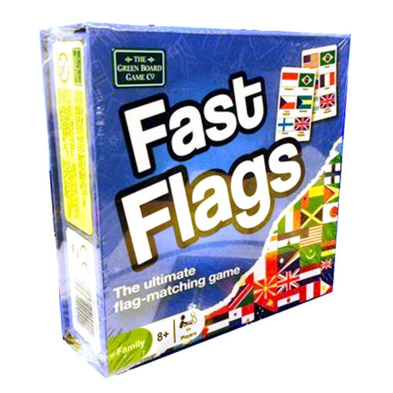 Green Board Games Fast Flags Game