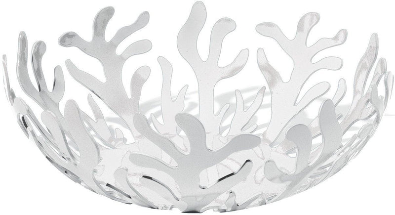 "Alessi ESI01/29 W ""Mediterranean"" Fruit Bowl in Steel Colored with Epoxy Resin, White"
