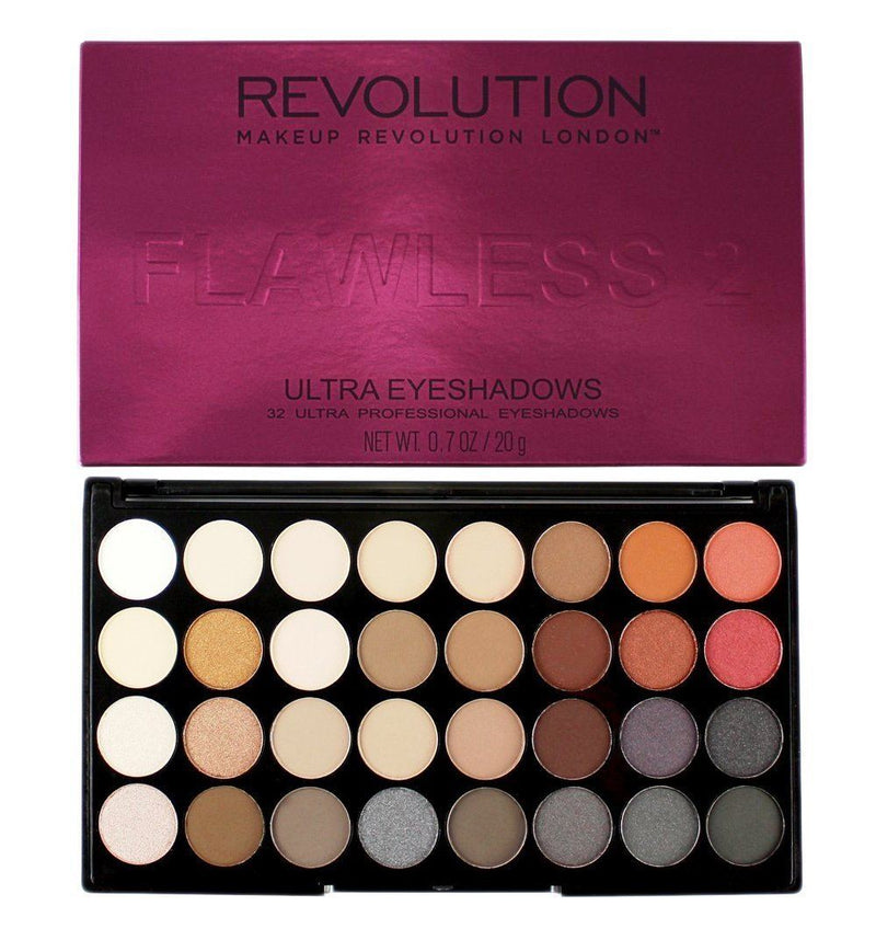 Makeup Revolution Ultra Eyeshadows Palette - FLAWLESS 2