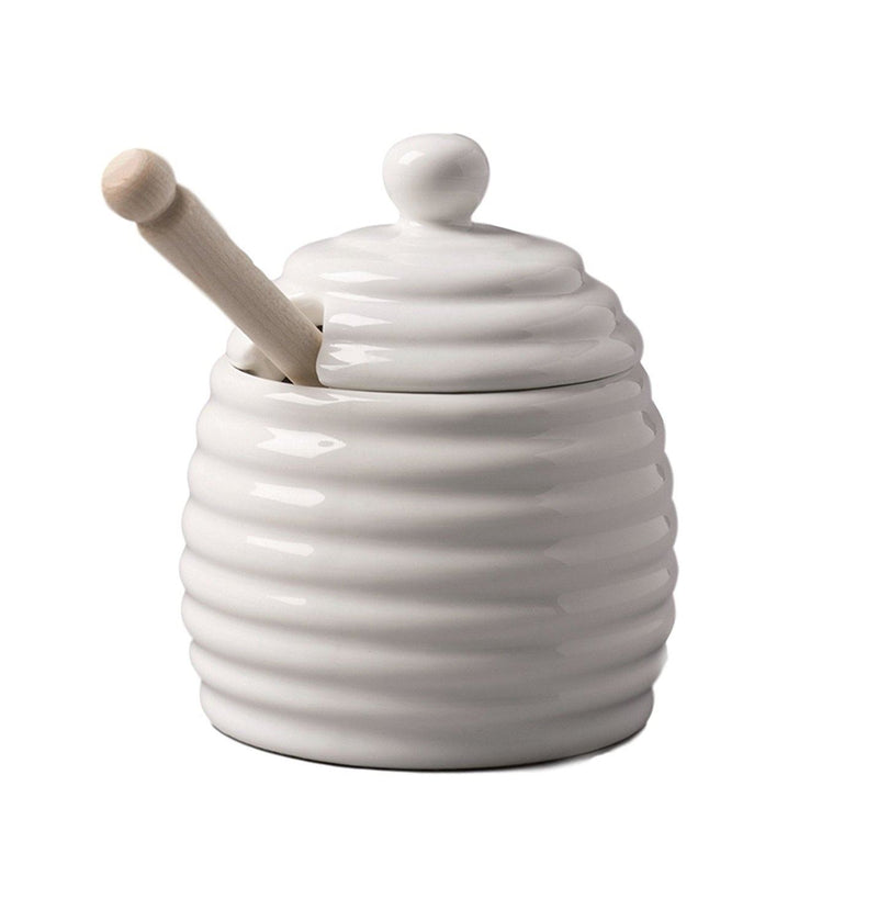 W M Bartleet Honey Pot with Wooden Dipper