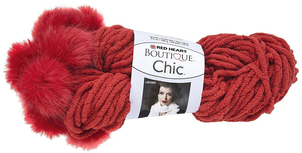 Coats Yarn Polyester Blend Red Heart Boutique Chic Yarn-Pimento