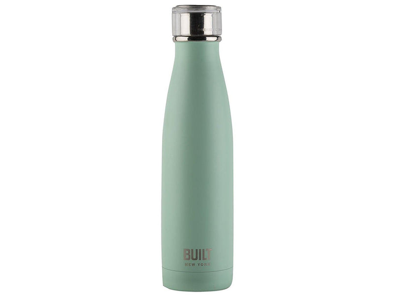 Built NY double Wall Stainless Steel Perfect Seal Water Bottle, 17 oz, Mint