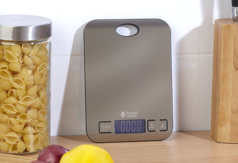Russell Hobbs Kitchen Slim Electronic Digital Stainless Steel Platform Scale 5kg