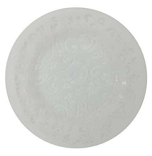 Colony 20cm Frosted Glass Scroll Plate Pack of 2