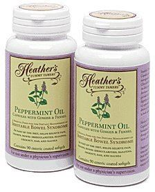 2 x Heather's Tummy Care Peppermint Oil 90 Enteric Coated Softgels
