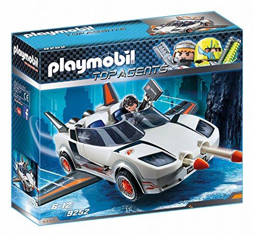 "PLAYMOBIL 9252"" Top Agent P. with Racer Firing Weapons Toy Set"