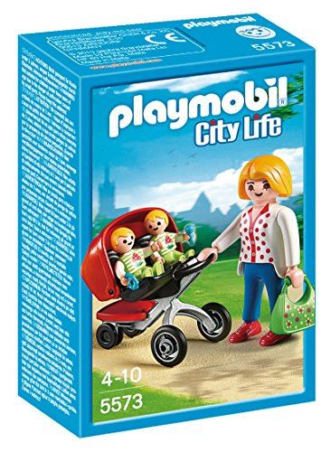 PLAYMOBIL Mother with Twin Stroller Set