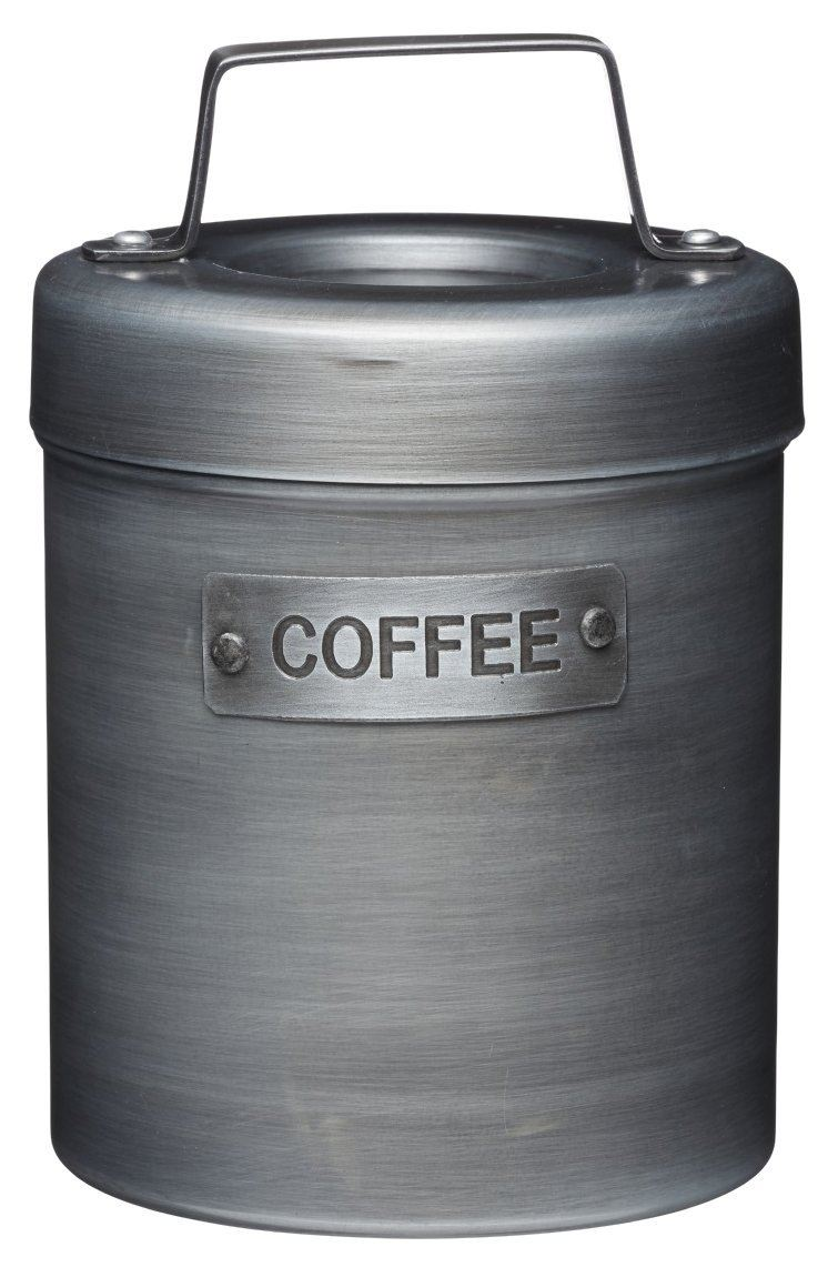 KitchenCraft Industrial Kitchen Vintage-Style Metal Coffee Canister, 1 L (1.75 pts)