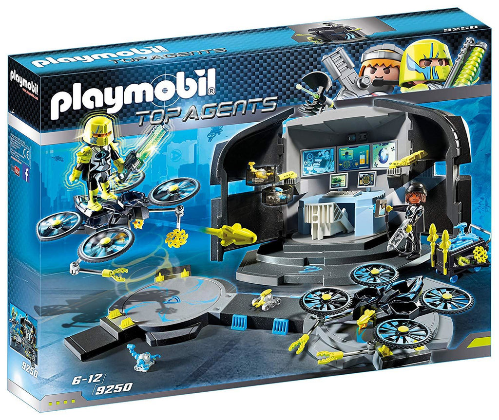 Playmobil 9250 Top Agents Dr. Drone's Command Base Toy Set Multi