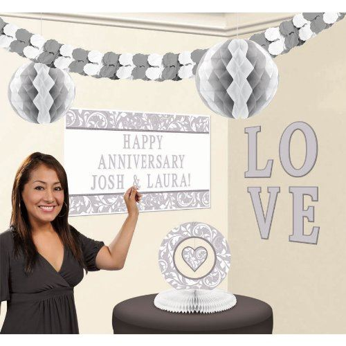 Silver Elegant Scroll Personalised Decorating Kit