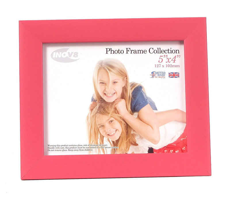 Inov8 British Made Traditional Picture/Photo Frame, Vintage Pink, 5x4 Inch