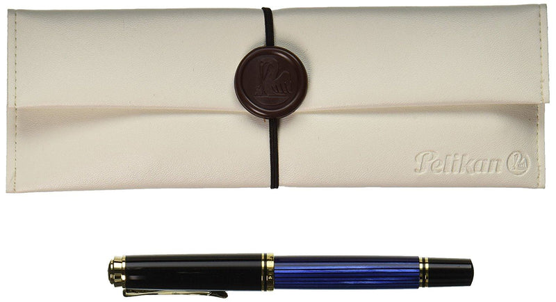 Pelikan M400 Fountain Pen - Fine Nib - Black & Blue