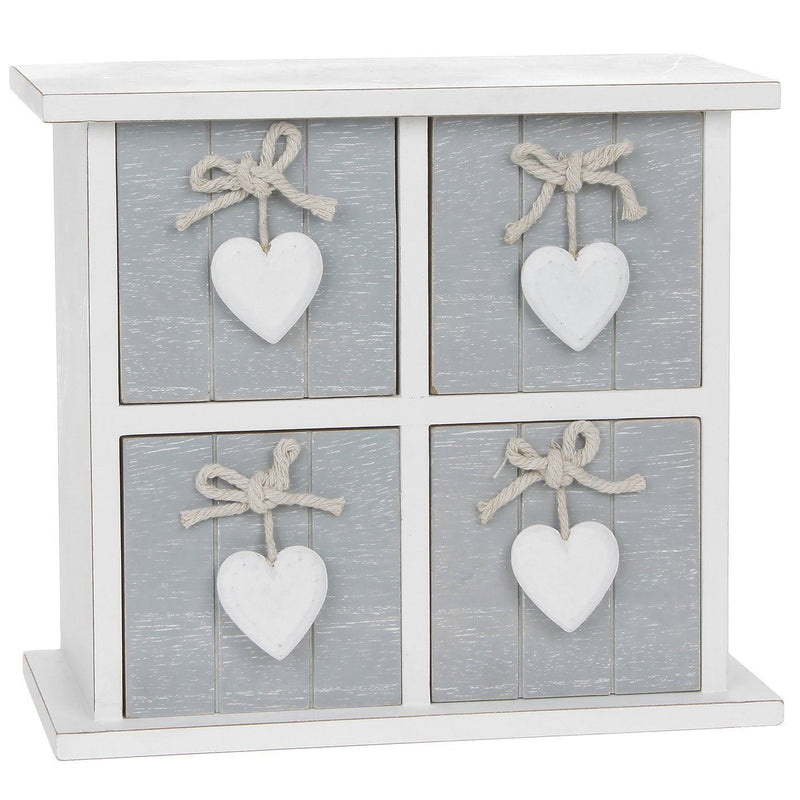 Shudehill Provence 4 Drawer Square Chest - Grey