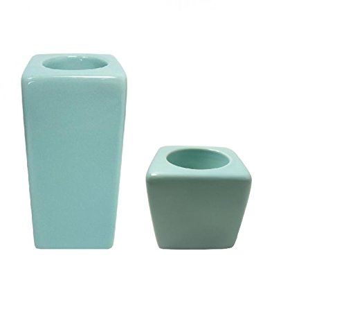 Colony Tall And Small Blue Tealight Holders set
