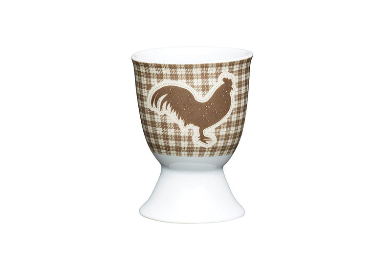 Kitchencraft Textured Hen Egg Cup, Porcelain, Multicolor, 6 x 4 x 6 cm