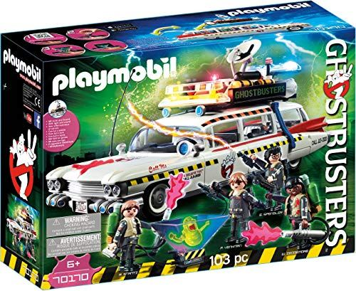 Playmobil Ghostbusters 70170 Ecto-1A with Light and Sound Effects for Children Ages 6+