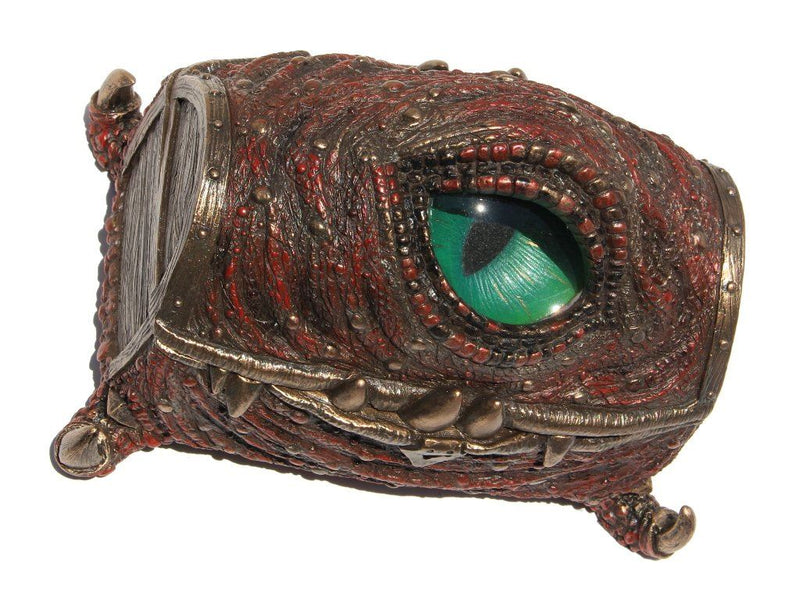 Mimic Chest Dragon Eye Trinket Box, 6.25 Inch Long