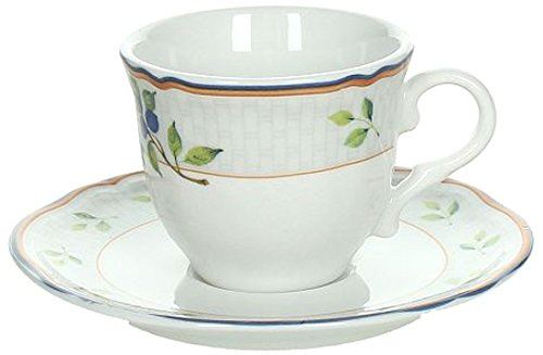 Tognana 105cc Opera Villa Pamphili Coffee Cup and Saucer Set, White
