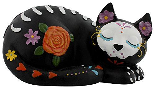 Grindstore Sleepy Sugar Cat Ornament Black 22cm