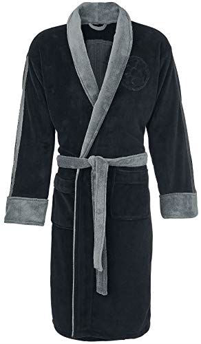 Darth Vader Embossed (Star Wars) Black Hoodless Robe, Black-grey, One Size