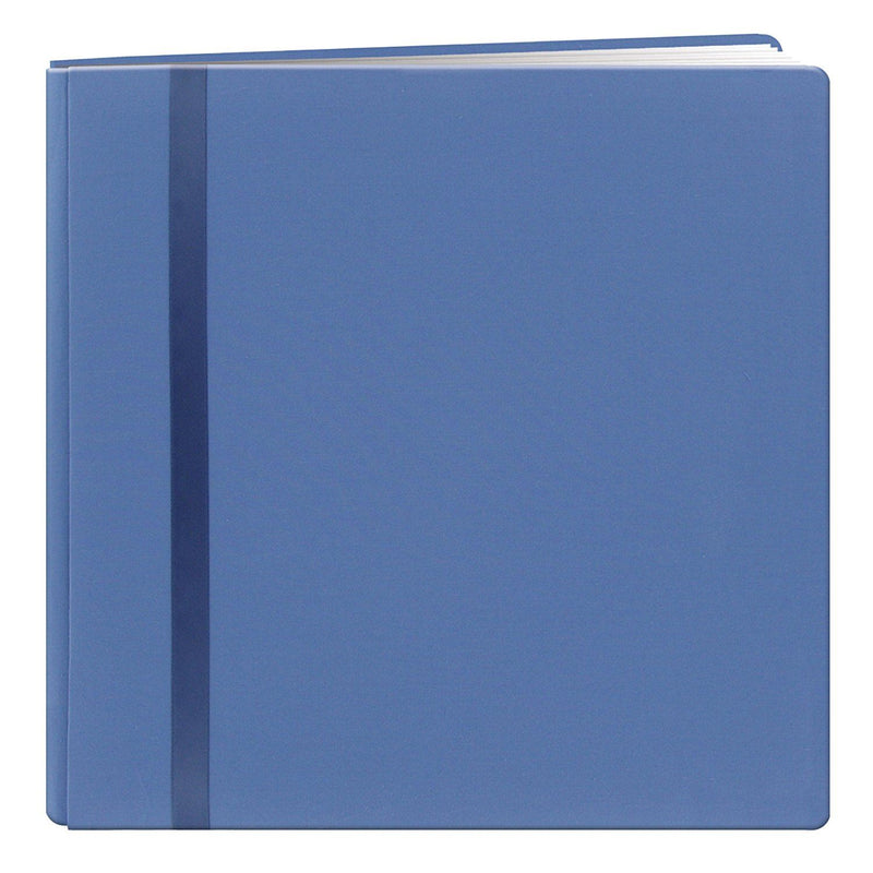 Pioneer 8 x 8-inch Snapload Scrapbook Cloth with Ribbon, Blue