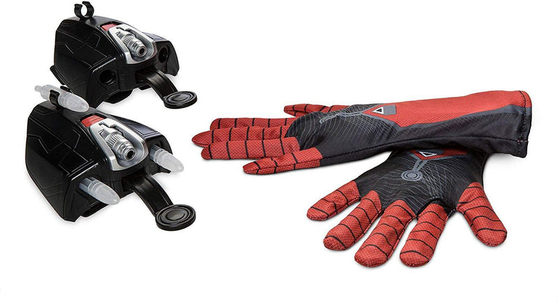 Disney Store Spider-Man: Far From Home Webshooter Gloves, Set includes: 2 gloves, 2 wrist launchers and 6 plastic darts
