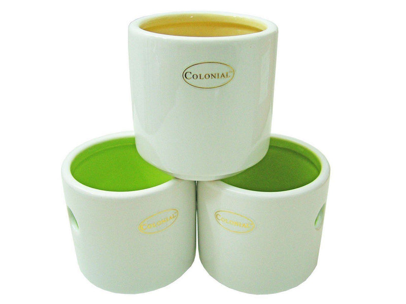 Colony Tea Light Holder Lantern Yellow & Green Set of 6