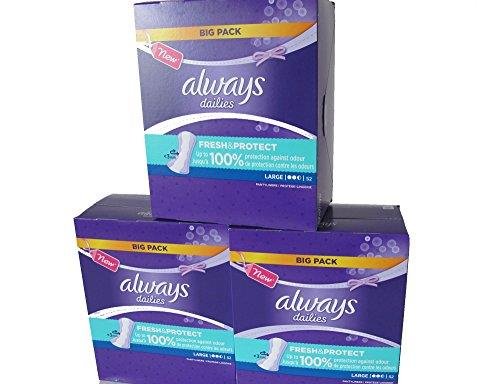 1 x Always Dailies Panty Liners Large - 52 Pads